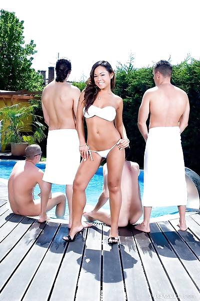Hot asian jade sin gets gang..