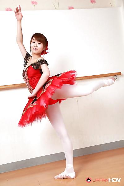 Busty Japanese ballerina..