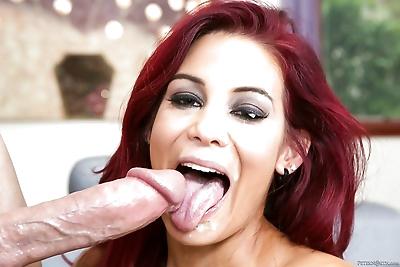 Hot redhead Ryder Skye licks..
