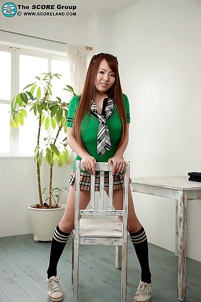 Gorgeous little Hitomi has..