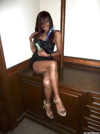 Thin Thai girl with a tight..