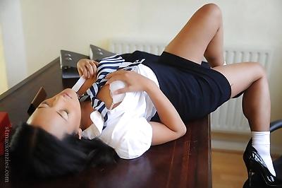 Asian schoolgirl Ayumi..