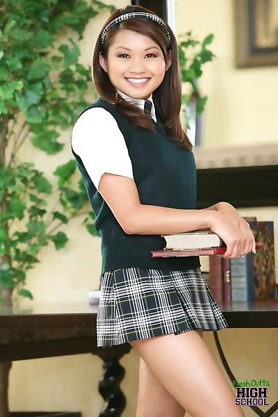 Slutty Asian schoolgirl..