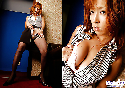 Asian babe in stockings..