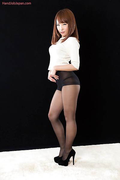 Sexy little Japanese girl on..