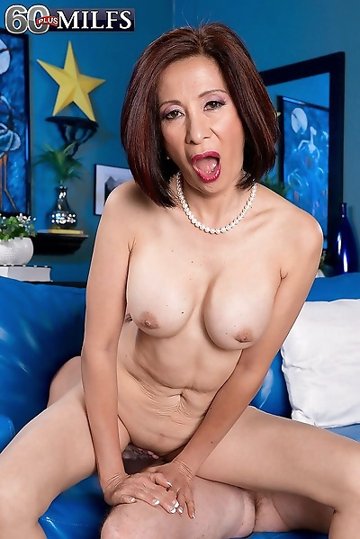 Asian mature anal fucked on..