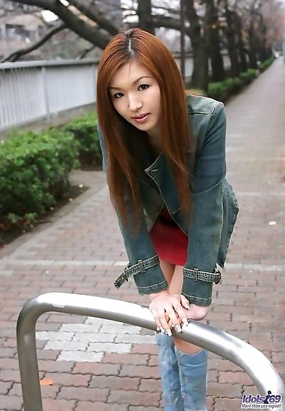Redhead japanese teen mai..
