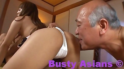 Asian hitomi tanaka and two..