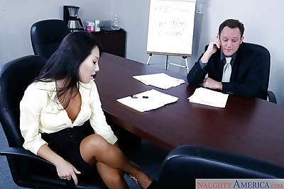 Asian secretary Asa Akira..