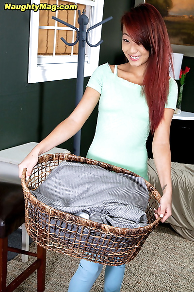 Asian redhead Layla Mynxxx..