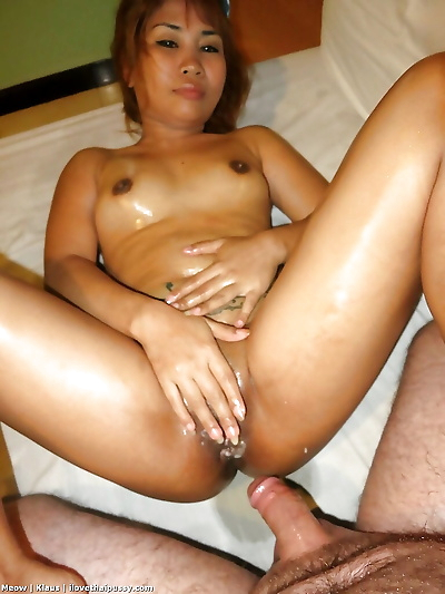 Petite Asian redhead with tiny boobs giving BJ before hardcore fucking